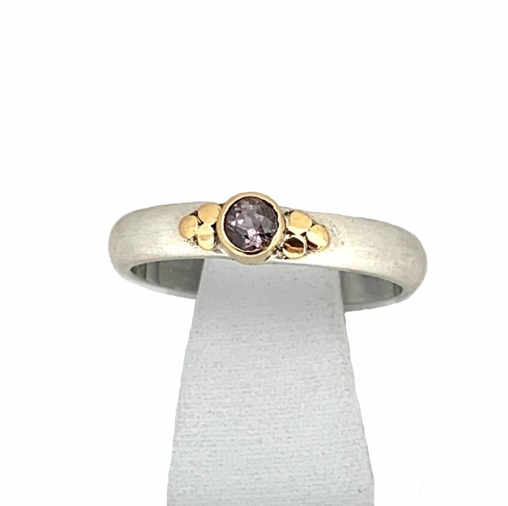 NJ Bali stack rings Violet fancy sapphire