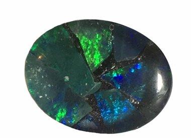 Zwart opaal triplet
