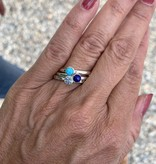 NJ Bali stack rings Turquoise
