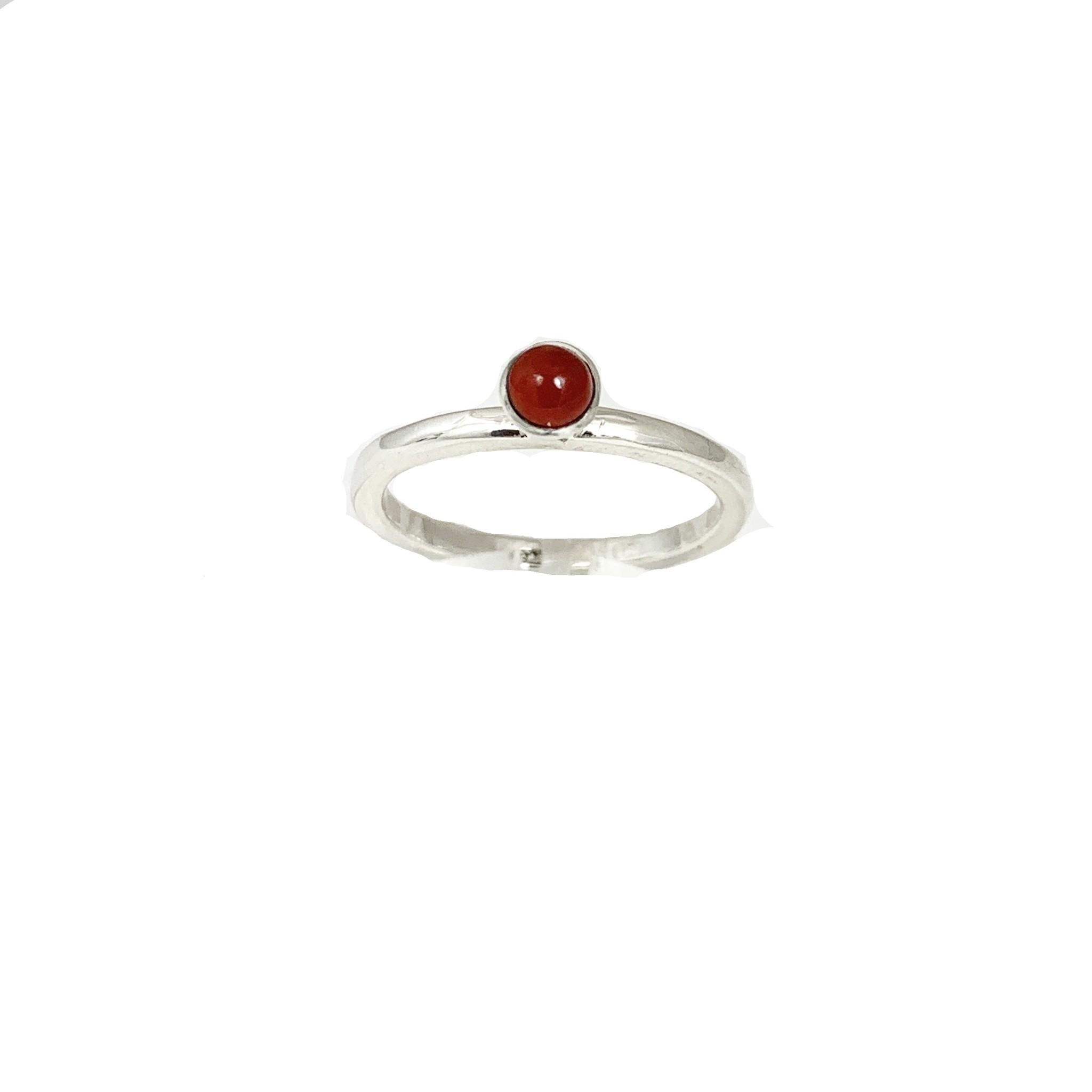 Stackable rings Carnelian