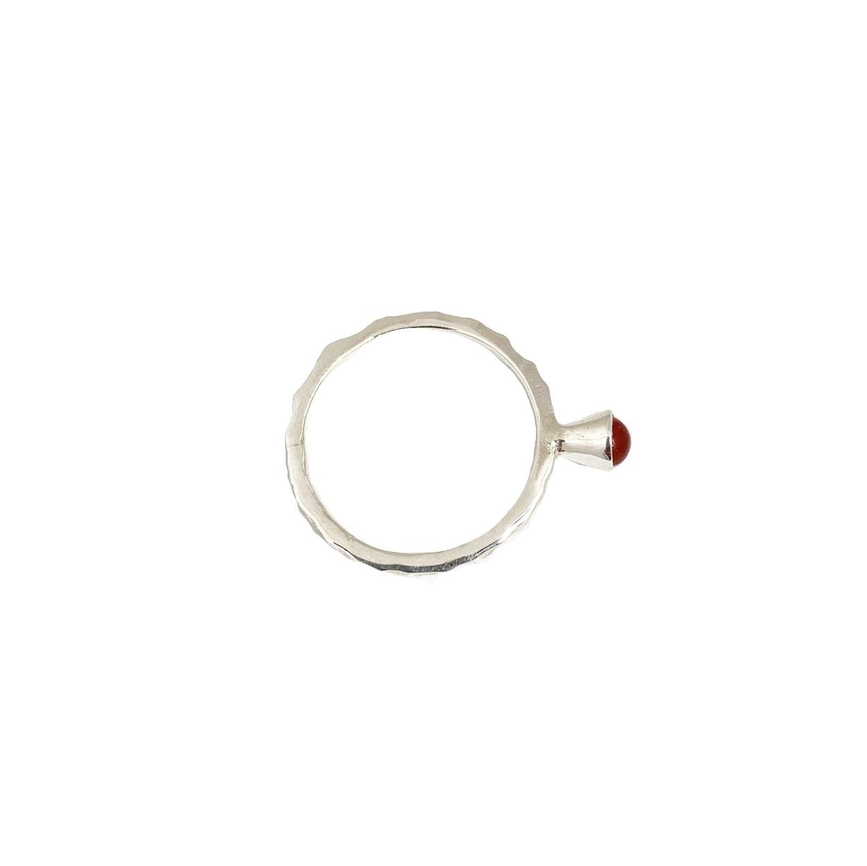 Stackable rings Carneool