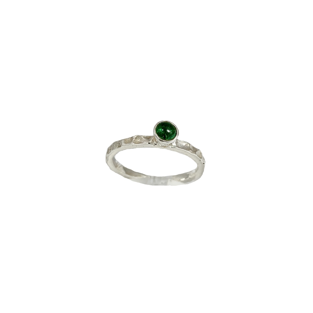 Stackable rings Green tourmaline