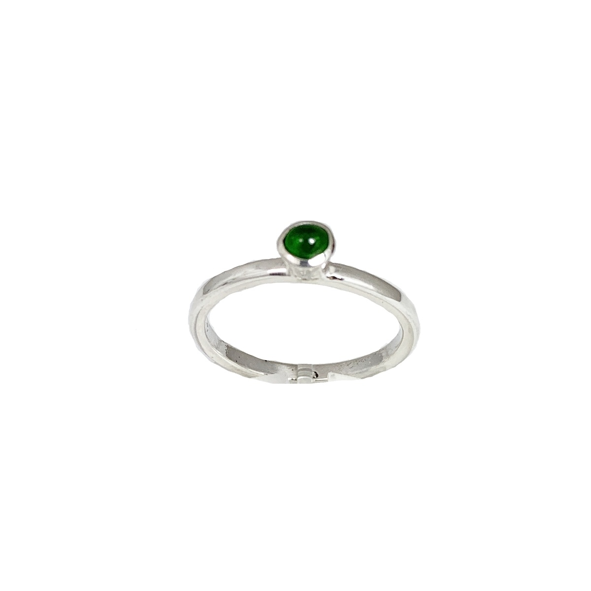 Stackable rings Green tourmaline ring, silver