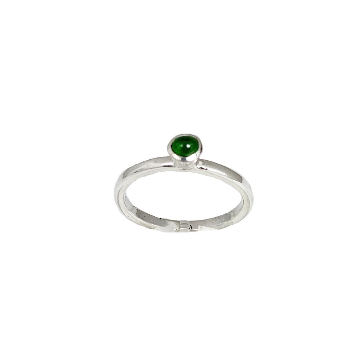 Stackable rings Groene toermalijn ring, zilver
