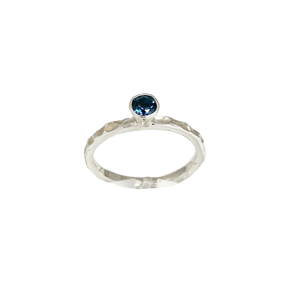 Stackable rings London blue topaz