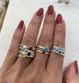 NJ Bali stack rings Rhodolite