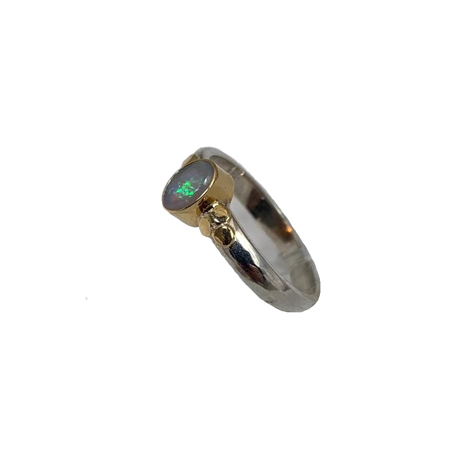 Kiliaan collectie sterling silver and gold ring opal