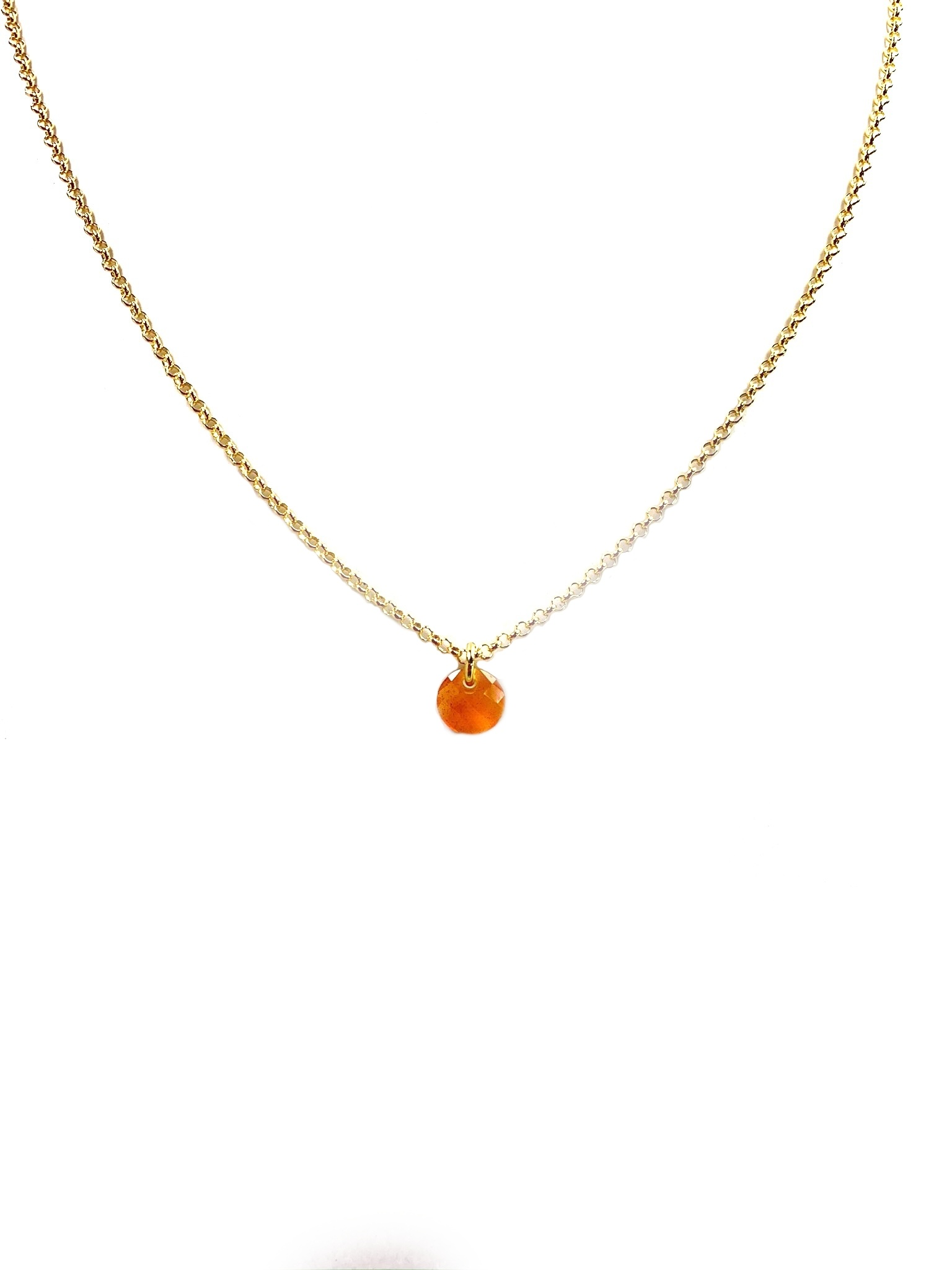 Kiliaan collectie Necklace and pendant delicate facetted carnelian