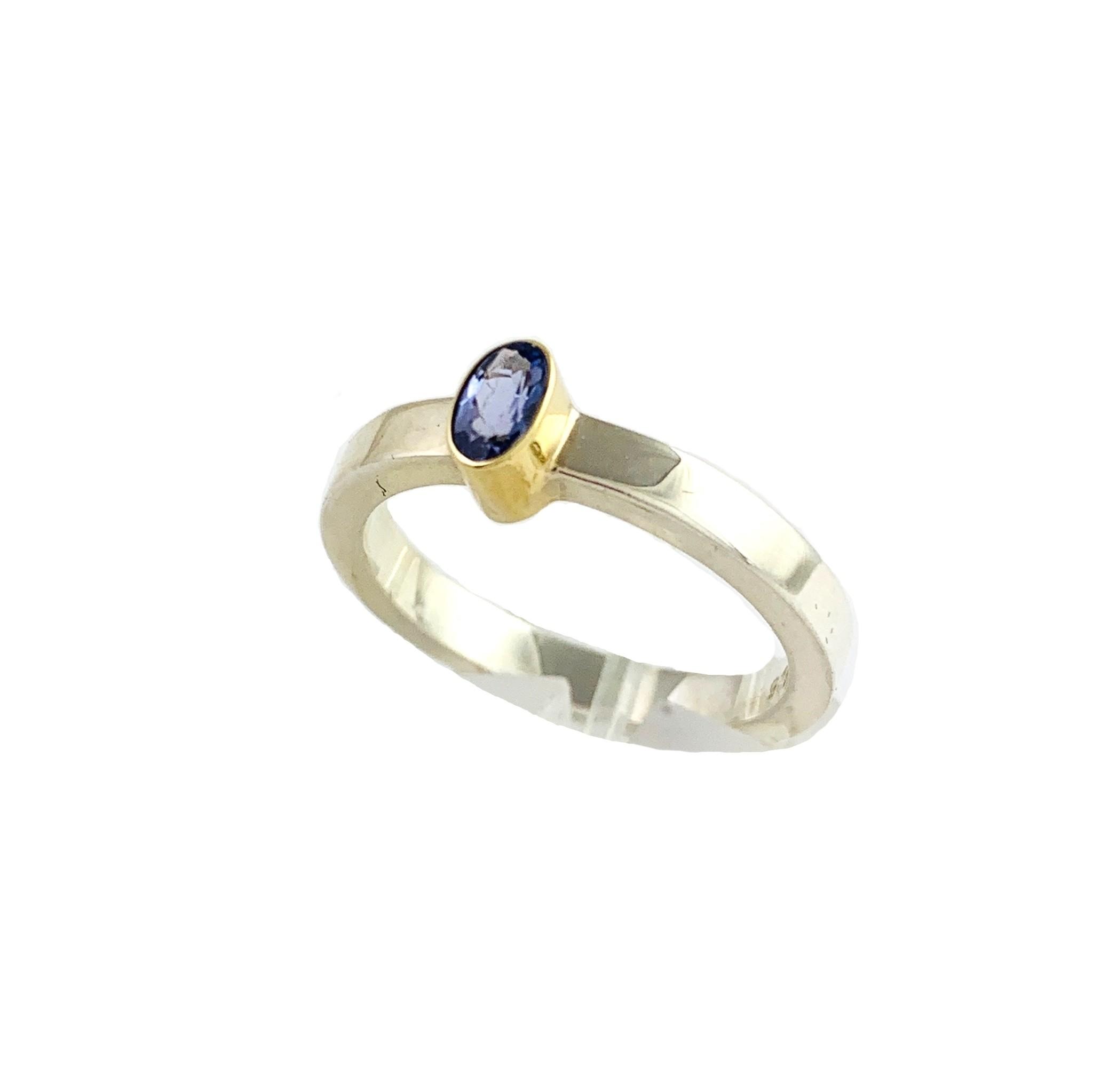 Kiliaan collectie Ring tanzanite - silver gold