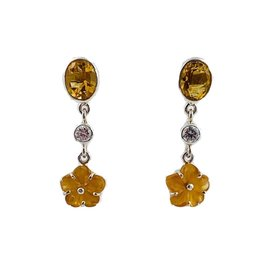 Kiliaan collectie Earrings citrine and sapphire