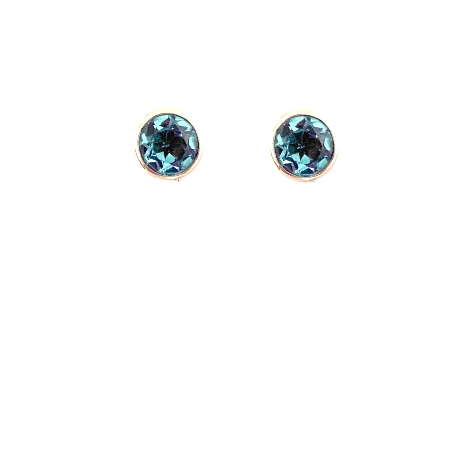 Changeable oorbellen Changeable earrings turquoise and topaz