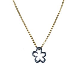 Cadeau idee Necklace Fleur sterling silver and gold