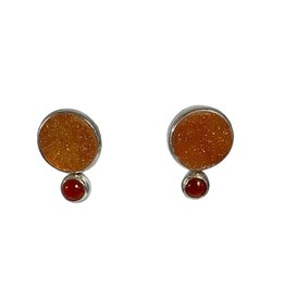 Changeable oorbellen Earrings carnelian
