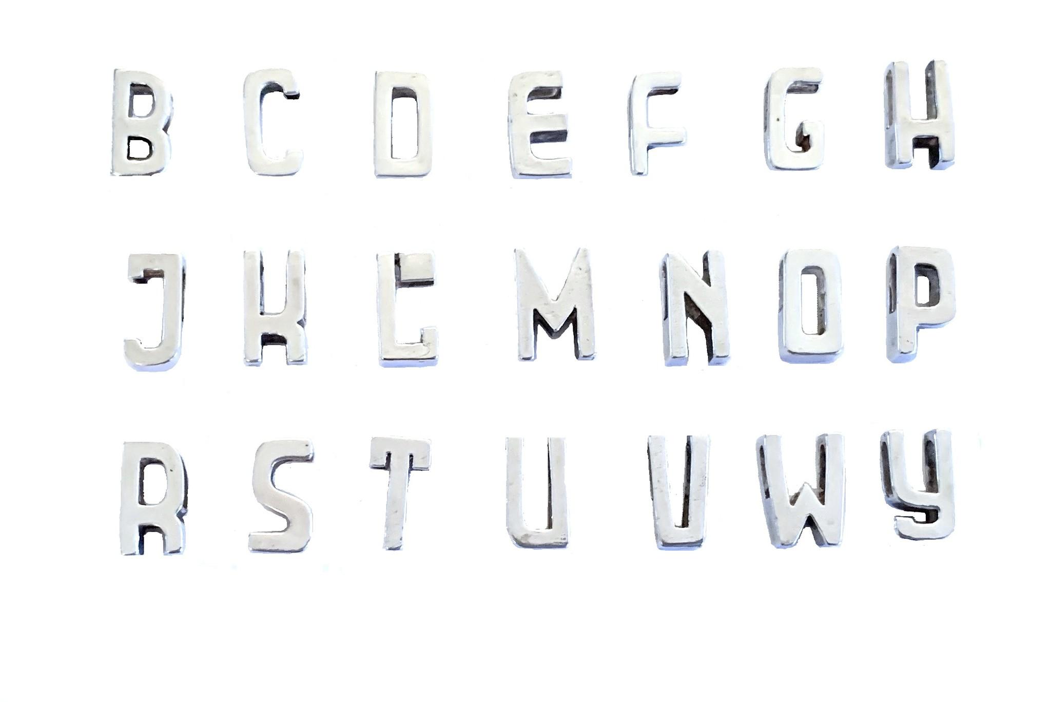 Cadeau idee Ketting met letter, zilver