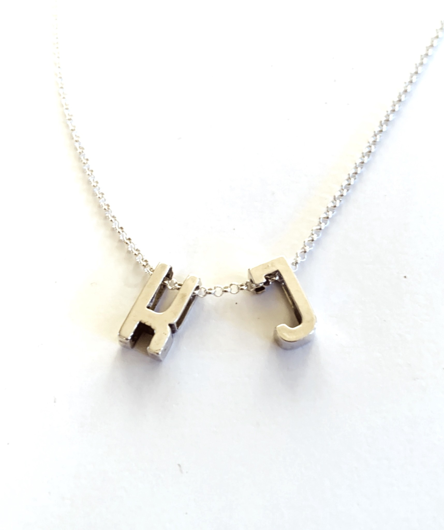 Cadeau idee Silver necklace with letter