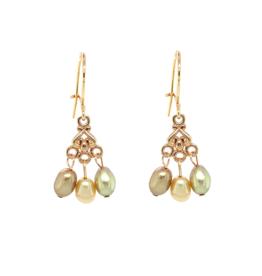 Cadeau idee Earrings pearls, chandelier