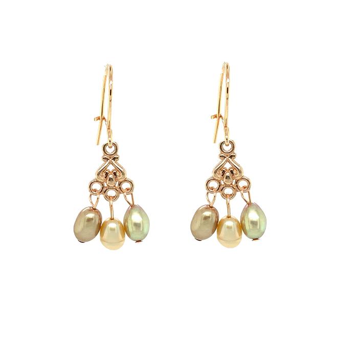 Cadeau idee Pearl earrings, rosegold