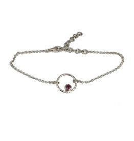 Bracelet  Circle of Life rhodolite