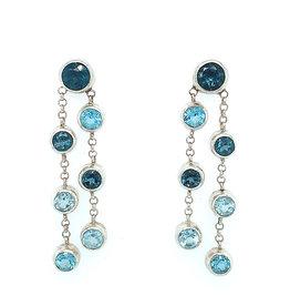 Kiliaan Jewelry Collectie Oorbellen blauw topaas, waterval