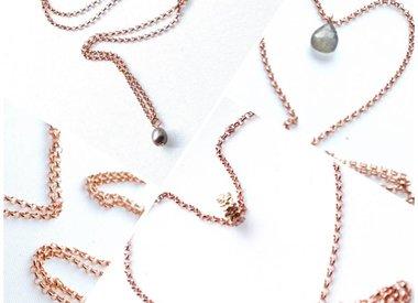 Rose goud ketting & hanger