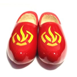 wooden shoes with logo