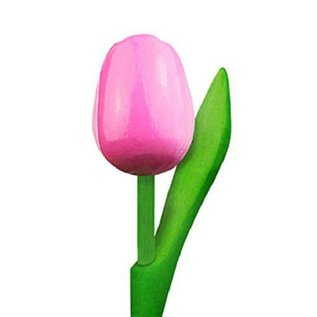 wooden tulips in the color rose - white