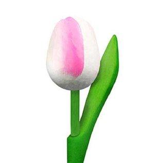 houten tulpen in de kleur wit - rose 20cm