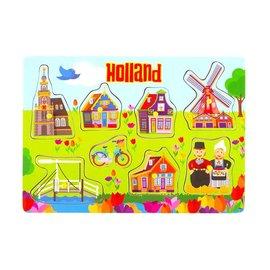 houten puzzelplankje tulp design Holland