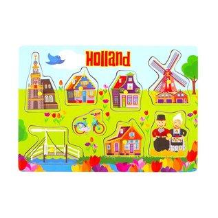 Hölzernen Puzzlespielbrett Tulpe Design Holland