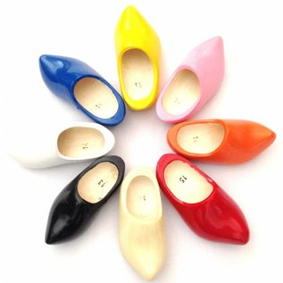Colored children's wooden shoes with pointed nose