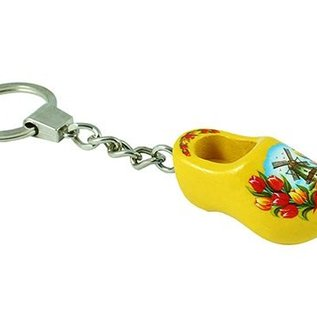 sleutelhanger klompje geel