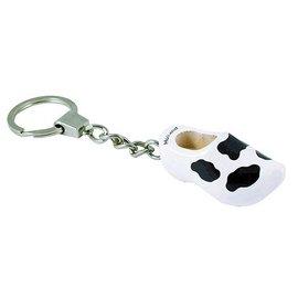 Keychain clog cow motif