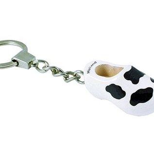 Schlüsselring Clog mit einem Kuhmotiv