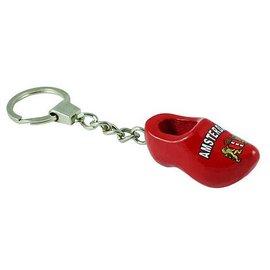 Keychain clog red Amsterdam