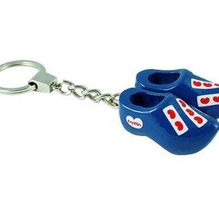 key ring 2 clogs 4 cm blue Friesland