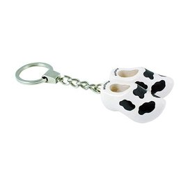 Keyring clog with cow motif