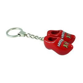 Rode sleutelhanger klompjes Amsterdam