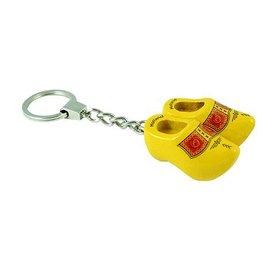 keychain clogs farmer yellow