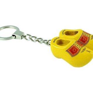 sleutelhanger 2 klompjes 4 cm boerengeel
