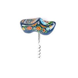 Blue souvenir clog corkscrew