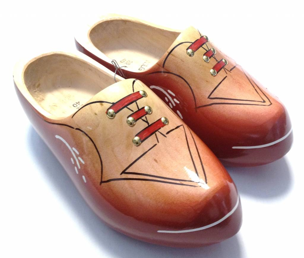 Spring  with a new pair of wooden shoes