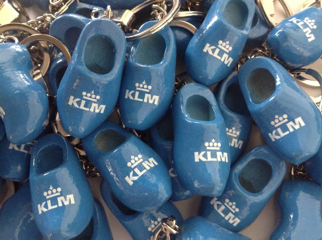The most beautiful keyrings with a clog with a logo