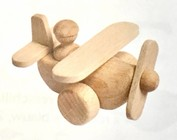wooden toys in the shape of a clog