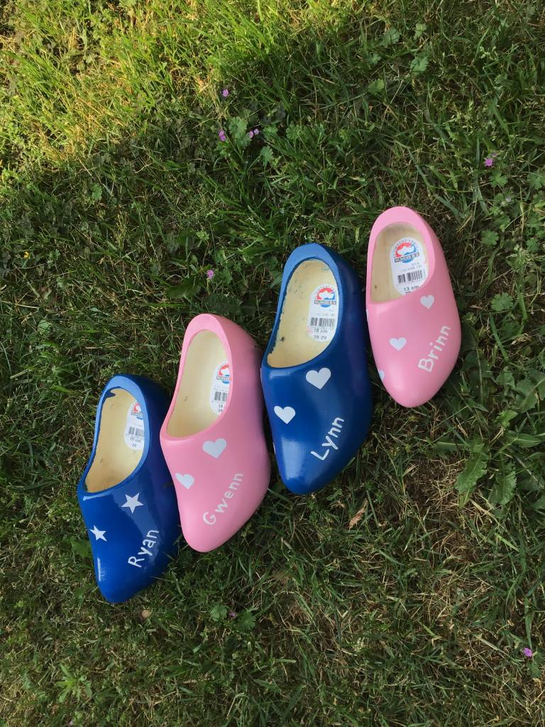 The most beautiful children's wooden shoes