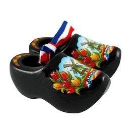 souvenirs klompjes 10cm  zwart