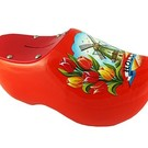 Piggy bank clog Dutch windmill orange