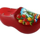 Piggy bank clog Dutch windmill red