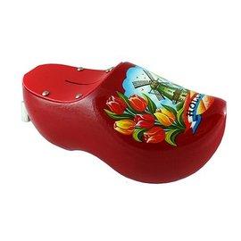 Money box clog windmill red