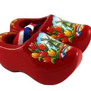 souvenirs klompjes rood 8cm