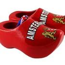 red souvenirs clogs Amsterdam 8cm